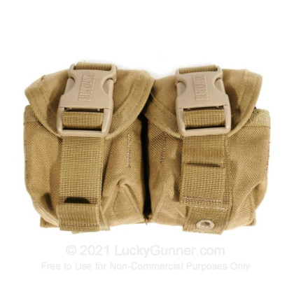Large image of S.T.R.I.K.E. Double Frag Grenade Pouch - Blackhawk - Coyote Tan