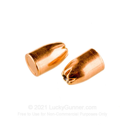 """Large image of Premium 38 Super (.356"""") Bullets for Sale - 121 Grain JHP Bullets in Stock by Zero Bullets - 500 Projectiles"""