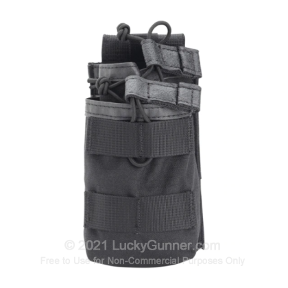 Large image of S.T.R.I.K.E. Tier Stacked M16/M4/PMAG Double Magazine Pouch - Blackhawk - Black