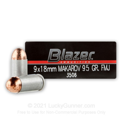 Large image of Bulk 9mm Makarov Ammo For Sale - 95 gr FMJ - CCI Blazer 9mm Mak Ammunition In Stock - 1000 Rounds