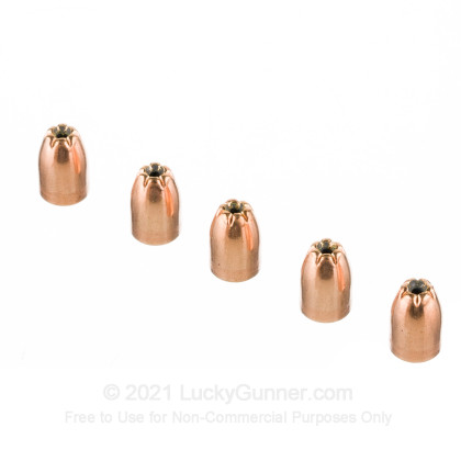Large image of Bulk 9mm (.355) Bullets for Sale - 115 Grain JHP Bullets in Stock by Zero Bullets - 500
