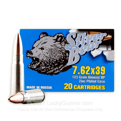 Image 1 of Silver Bear 7.62X39 Ammo