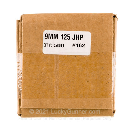 """Large image of Premium 9mm (.355"""") Bullets for Sale - 125 Grain JHP Bullets in Stock by Zero Bullets - 500 Projectiles"""