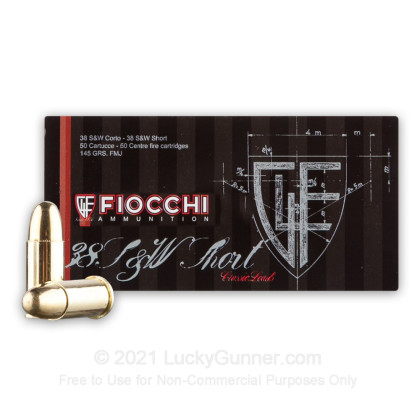 Image 2 of Fiocchi .38 Smith & Wesson Ammo