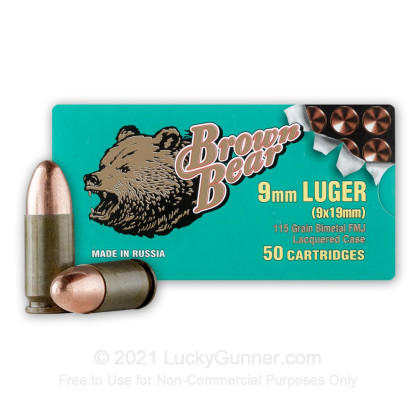 Image 2 of Brown Bear 9mm Luger (9x19) Ammo