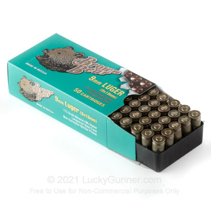 Image 3 of Brown Bear 9mm Luger (9x19) Ammo