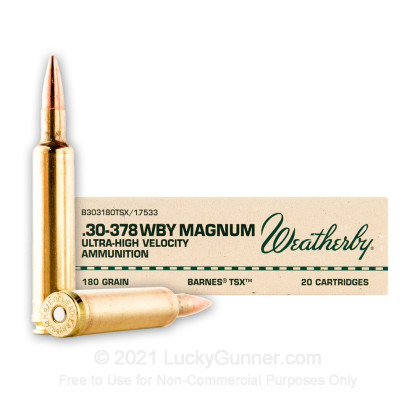 Image 1 of Weatherby Ammunition 30-378 Weatherby Ammo