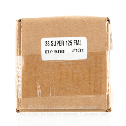 """Large image of Premium 38 Super (.356"""") Bullets for Sale - 125 Grain FMJ Bullets in Stock by Zero Bullets - 500 Projectiles"""