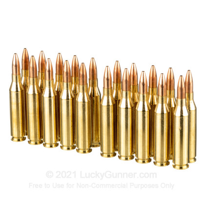 Large image of Premium 243 Ammo For Sale - 85 Grain HPBT GameKing Ammunition in Stock by HSM - 20 Rounds