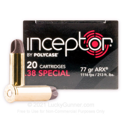 Image 1 of Inceptor .38 Special Ammo