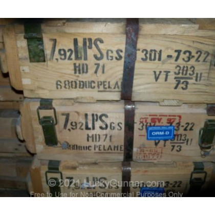 Image 1 of Romanian Military Surplus 8mm Mauser (8x57mm JS) Ammo