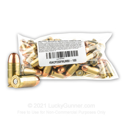 Image 2 of Military Ballistics Industries .45 ACP (Auto) Ammo