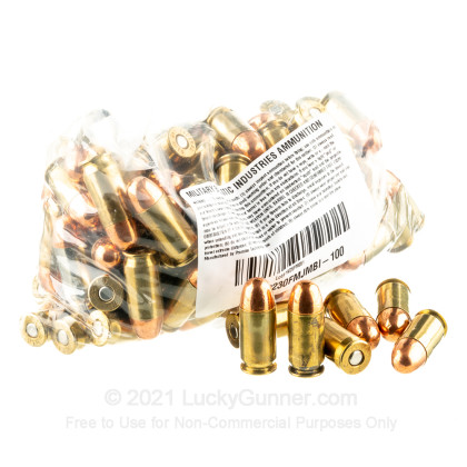 Image 3 of Military Ballistics Industries .45 ACP (Auto) Ammo