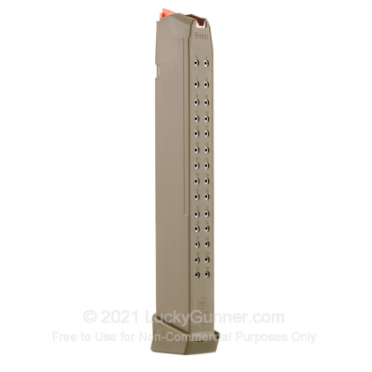 Large image of Factory Glock 9mm G17/19/26 33 Round Magazine For Sale - OD Green