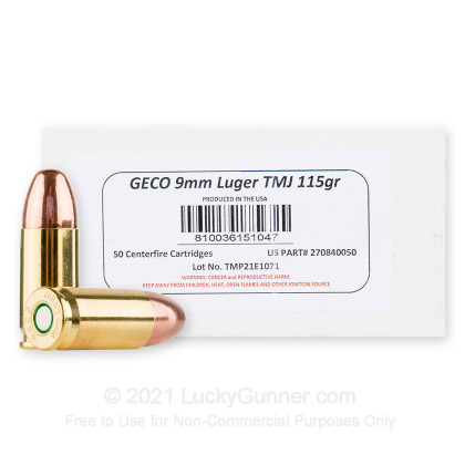 Image 1 of GECO 9mm Luger (9x19) Ammo