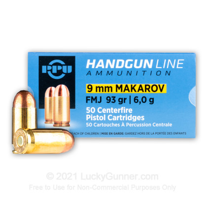 Large image of 9mm Makarov (9x18mm) Luger Ammo For Sale - 93 gr FMJ Prvi Partizan Ammunition For Sale
