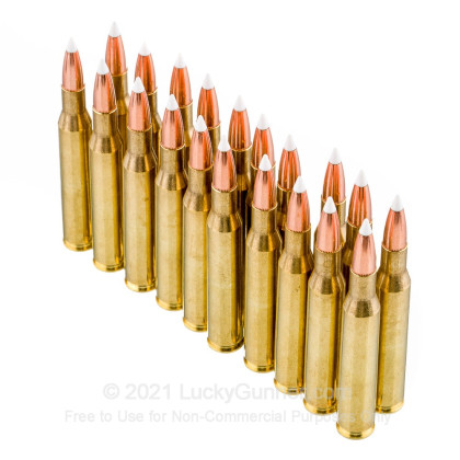 Large image of Premium 270 Ammo For Sale - 130 Grain Accubond Polymer Tip Ammunition in Stock by Nosler Trophy Grade - 20 Rounds