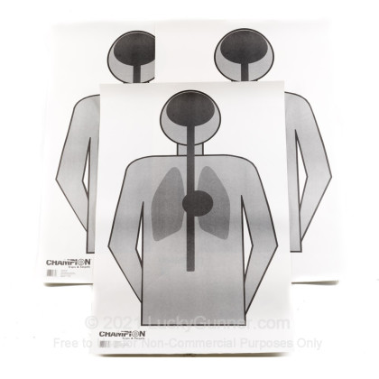 Large image of Cheap Targets - Champion - LE Paper Anatomy Silhouette In Stock - 100 Targets