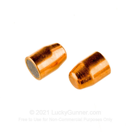 """Large image of Premium 40 S&W (.400"""") Bullets for Sale - 165 Grain FMJ-TC Bullets in Stock by Zero Bullets - 500 Projectiles"""