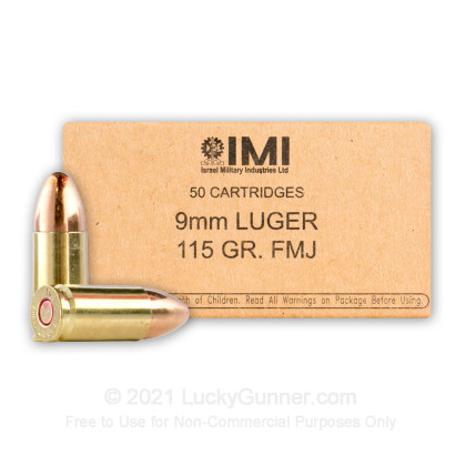 Image 1 of Israeli Military Industries 9mm Luger (9x19) Ammo