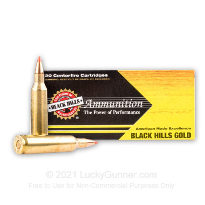 Image 2 of Black Hills Ammunition .22-250 Remington Ammo