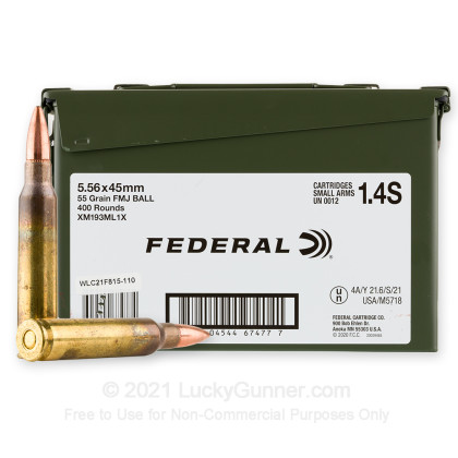 Image 1 of Federal 5.56x45mm Ammo