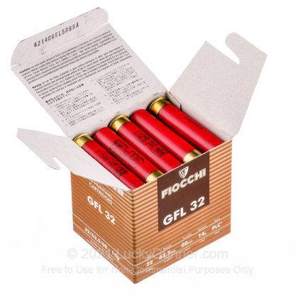 """Large image of Cheap 32 Gauge Ammo - 2-1/2"""" Small Game Loads - 1/2 oz - #8 Fiocchi - 25 Rounds"""