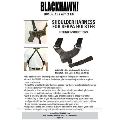 Large image of Holster Accessories - Blackhawk CQC SERPA - Large - Shoulder Harness For Sale