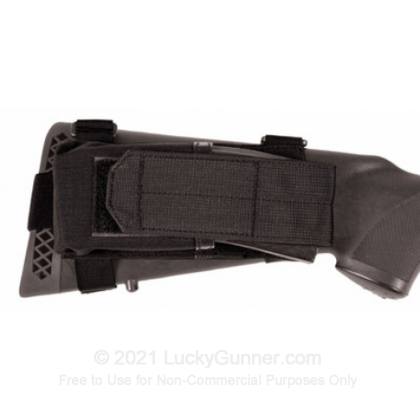 Large image of Buttstock Magazine Pouch - Universal Fixed Stock - Blackhawk - Black For Sale