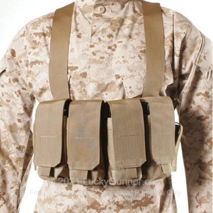 Large image of Chest Pouch - Magazine Carrier - AK - Blackhawk - Coyote Tan For Sale