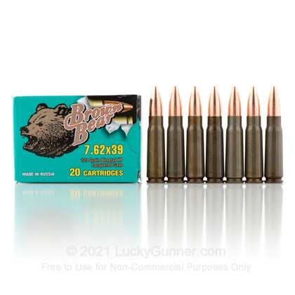 Image 4 of Brown Bear 7.62X39 Ammo