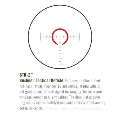 Large image of Premium Rifle Scope For Sale - 1-6.5x - 24mm ET1624SJ - Illuminated BTR-2 Reticle - Black Matte Bushnell Elite Tactical Rifle Scope in Stock