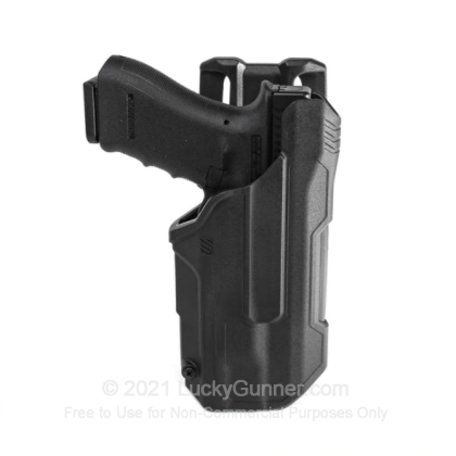 Large image of Holster - Outside the Waistband - Blackhawk - T-Series L2D Light Bearing Duty Holster - Right Hand