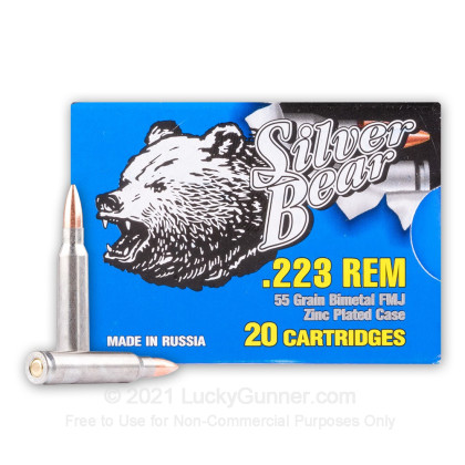 Image 1 of Silver Bear .223 Remington Ammo