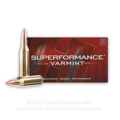 Large image of Premium 243 Ammo For Sale - 58 Grain V-Max Polymer Tip Ammunition in Stock by Hornady Superformance Varmint - 20 Rounds