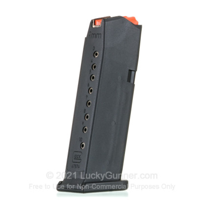 Large image of Factory Glock 9mm G43X/48 10 Round Magazine For Sale - 10 Rounds