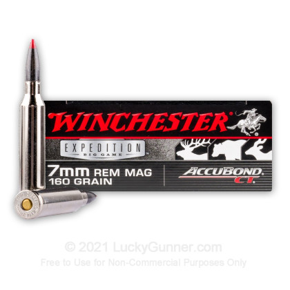 Image 1 of Winchester 7mm Remington Magnum Ammo