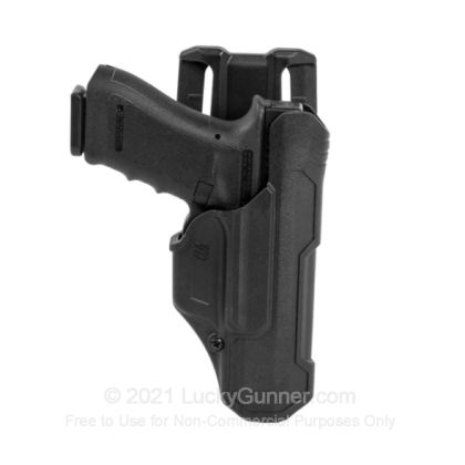 Large image of Holster - Outside the Waistband - Blackhawk - T-Series L2D Non-Light Bearing Duty Holster - Right Hand