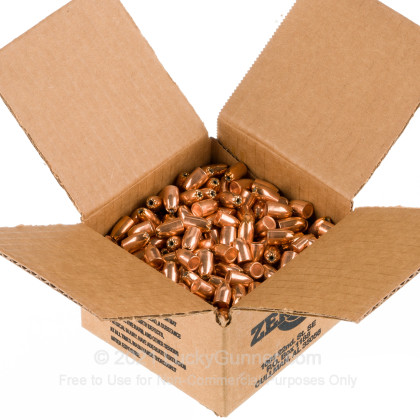 Large image of Bulk 9mm (.355) Bullets for Sale - 125 Grain JHP Bullets in Stock by Zero Bullets - 500