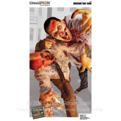 Large image of Champion Zombie Gruesome Two-Some Targets For Sale - Zombie Targets In Stock