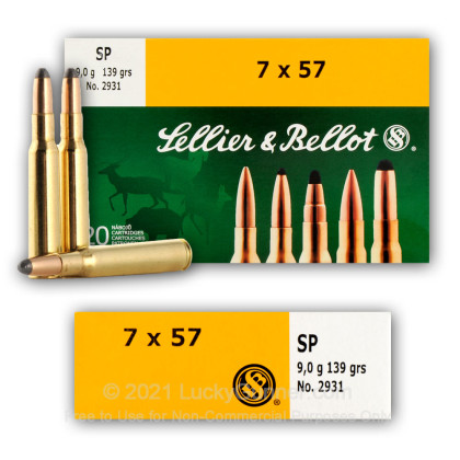 Image 8 of Sellier & Bellot 7x57 Mauser Ammo