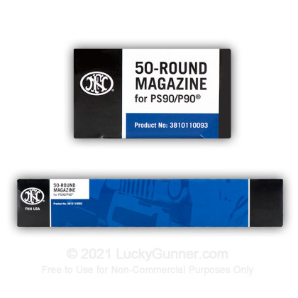 Large image of FN Herstal 50 Round P90/PS90 Carbine 5.7x28mm Polymer Magazine For Sale - 50 Round