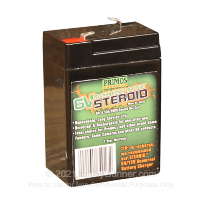 Large image of Primos 6V Steroid Battery - Truth Cam 35 - 64012