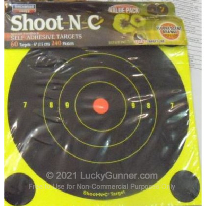 "Large image of Shoot NC Targets For Sale - Shoot NC 34550 6"" Targets - Birchwood Casey Targets For Sale"
