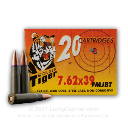 Image 7 of Golden Tiger 7.62X39 Ammo
