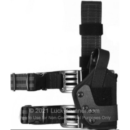 Large image of Drop Leg Holster - Uncle Mike's - Dual Retention Tactical Thigh Holster
