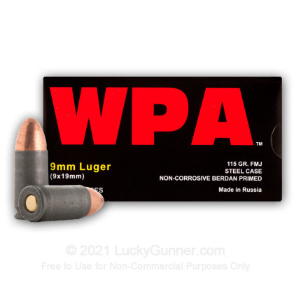 Image 10 of Wolf 9mm Luger (9x19) Ammo