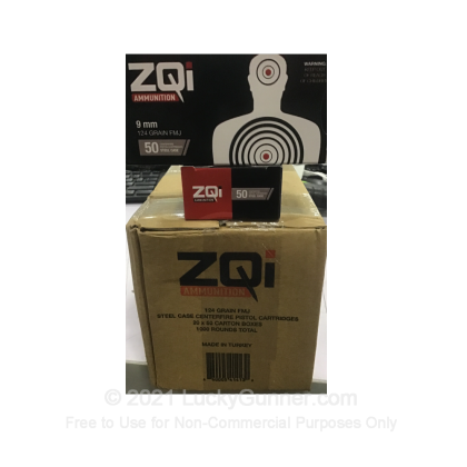 Image 3 of ZQI Ammunition 9mm Luger (9x19) Ammo