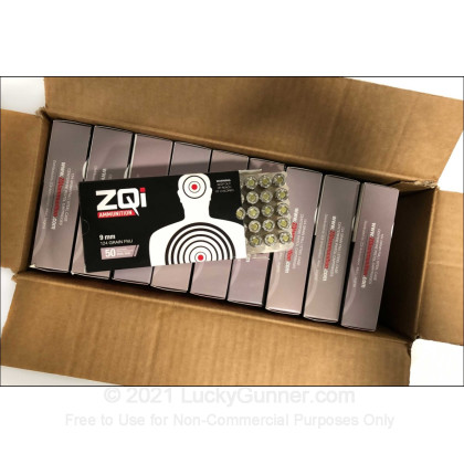 Image 1 of ZQI Ammunition 9mm Luger (9x19) Ammo