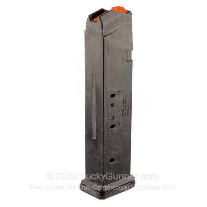 Large image of Premium 9mm Luger Magazine For Sale - 21 Round 9mm Luger Magazine in Stock by Magpul for Glock G17/G19/G34 - 1 Magazine
